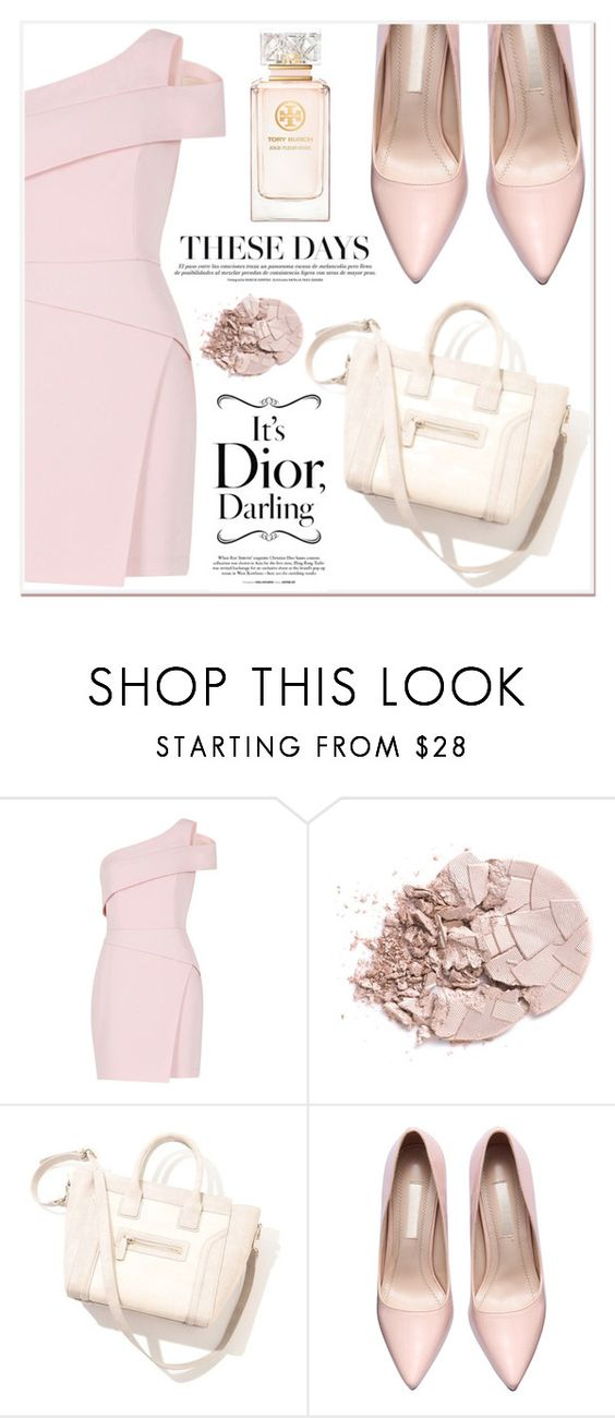 """""""Rose Style"""" by lucky-1990 ❤ liked on Polyvore featuring BCBGMAXAZRIA and Tory Burch"""