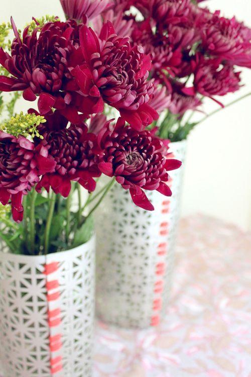 DIY metal flower vase