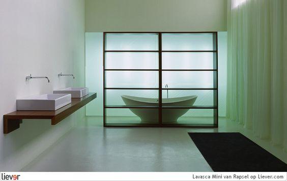 Een japanse scherm voor een Rapsel Lavasca Mini bad. Een stukje Oosterse mystiek.