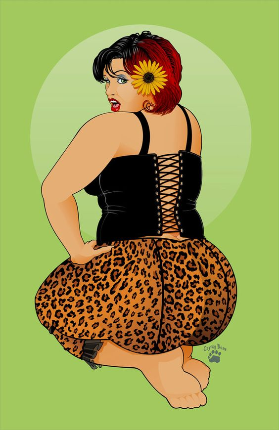 Not bbw pin up art photos