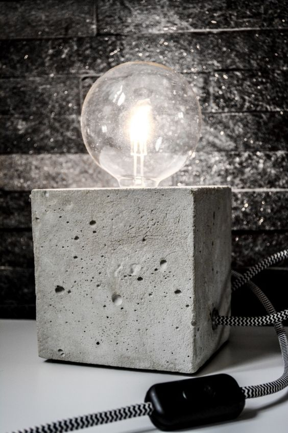diy beton lamp ideas para el hogar pinterest selber machen und lampen. Black Bedroom Furniture Sets. Home Design Ideas