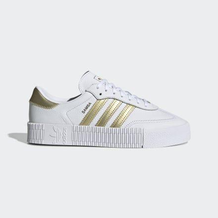 SAMBAROSE Shoes White Womens | Sneakers, Adidas outfit women