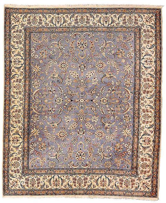 Nain Rugs: Nain part-silk carpet, mid 20th c. Sotheby's lot 451