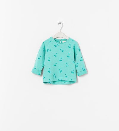 T-SHIRT ESTAMPADO CEREJAS da Zara