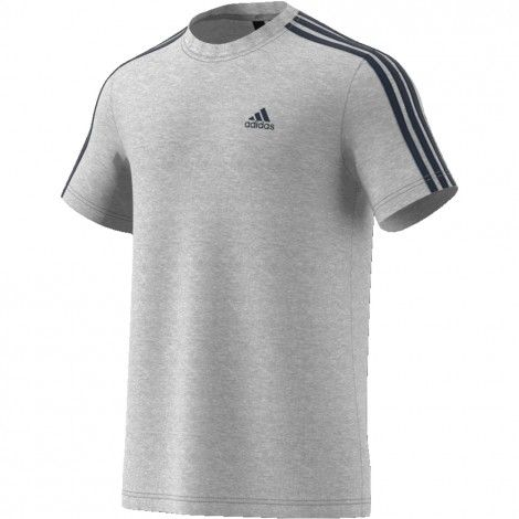 b993ddf920f Adidas Essentials 3-stripes shirt heren grey | Fitness | Pinterest