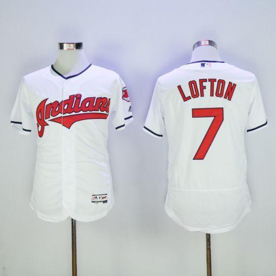 Men Cleveland Indians 7 Kenny Lofton White Elite MLB Jerseys ...