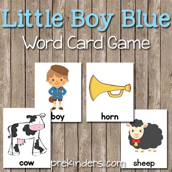 Little Boy Blue Word Cards
