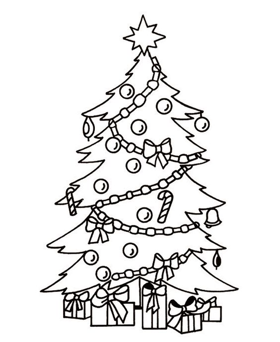 Outside Christmas Tree Coloring Page