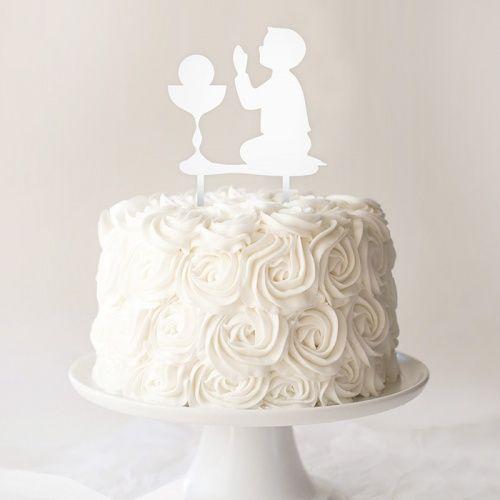 Topper Komunijny Na Tort Chlopiec First Holy Communion Cake Holy Communion Cakes Communion Cakes