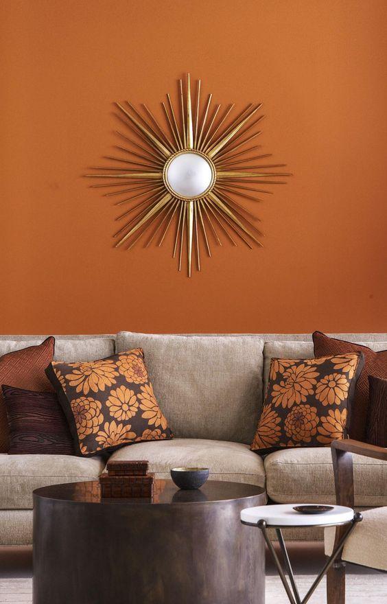 Orange Color How Use It In Interior Decoration Burnt Orange