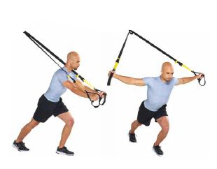 trx chest fly stand facing away trx chest fly stand facing