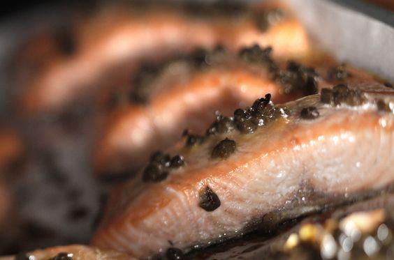 Miso caper glazed salmon | Recipe | Glazed Salmon, Salmon and Recipe