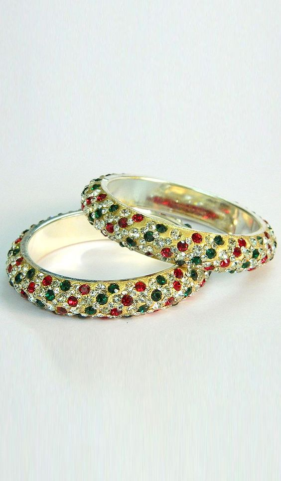 #Bangles & #Bracelets - Multicolored Stone Studded Bangles Costs Rs. 770. #Jewellery BUY it here: http://www.artisangilt.com/imitation-jewellery-fashion-jewelry/bangles-bracelets/multicolored-stone-studded-bangles-76274.html?ref=pin