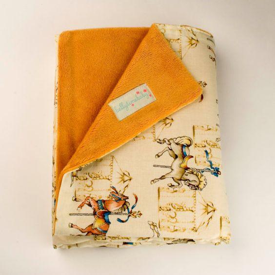Vintage Carousel Baby Blanket