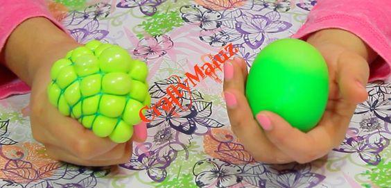 ♥DIY: Pelota Antiestres de Slime o moco de gorila