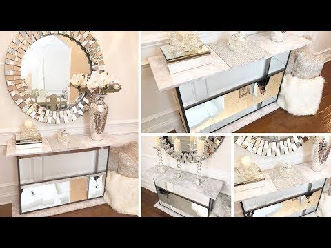 Diy Mirror Entryway Table 2019 Dollar Tree Diy Glam Mirror Furniture Youtube Glam Mirror Mirrored Furniture Diy Mirror