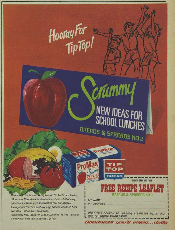 Tip Top Bread Promax Magazine Advertisement Ad February 1970 Vintage Retro