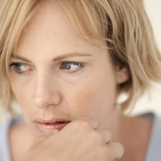 woman with anxiety worried