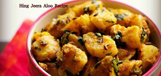 Hing Jeera Aloo Recipe - A lovely Potato recipe from Uttar Pradesh with a hint of spicy and a touch of tanginess!. For More information Visit https://www.hungryforever.com/hing-jeera-aloo-recipe/