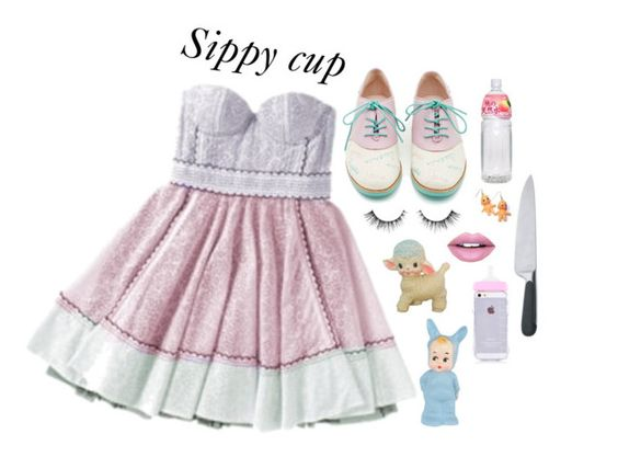 """""""Sippy cup """" by caro-medi-romero ❤ liked on Polyvore featuring Luella, Rachel Antonoff, Alessi, Fiebiger, Hannah Makes Things and melaniemartinez"""