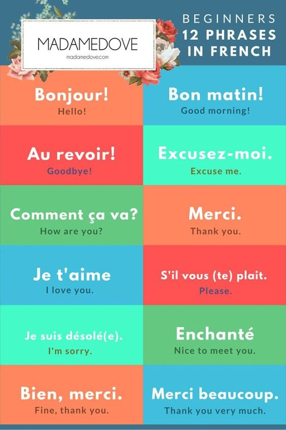 Good Morning French Phrases : In french and simple on pinterest