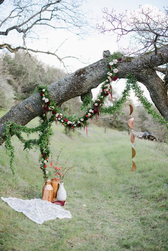 Eco-Friendly California Wedding with Marsala | Wedding ...