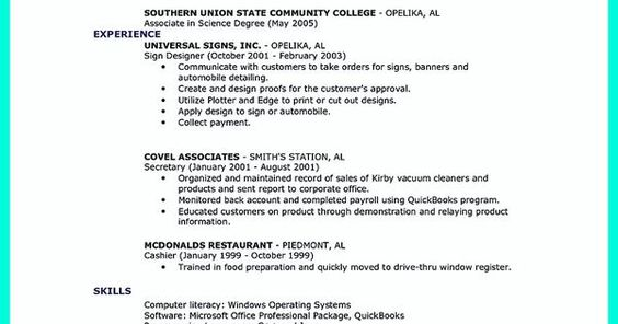 nice Excellent Ways to Make Great Bartender Resume Template, Check - associates degree resume