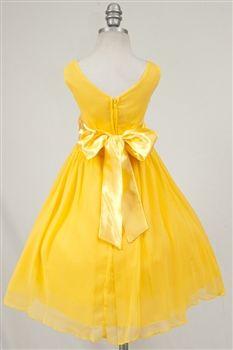 yellow flower girl dress $39