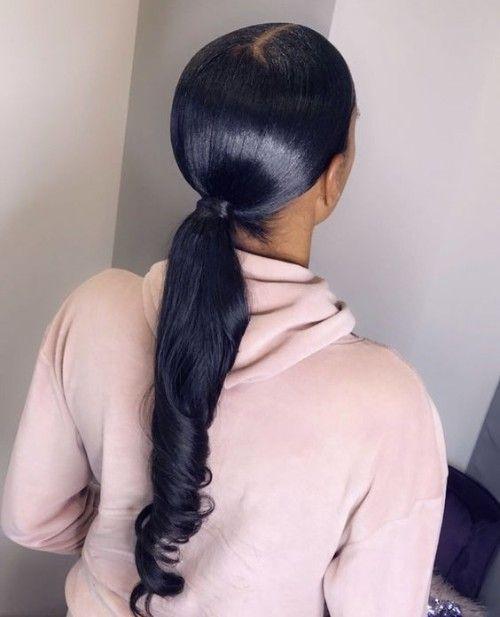 60 Stunning Ponytail Hairstyles For Black Women Black Ponytail