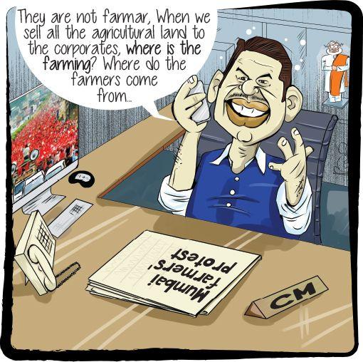 Mumbai Farmers Protest Cartoon Character Family Guy