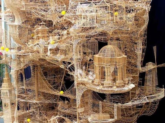 Toothpicks Sculpture