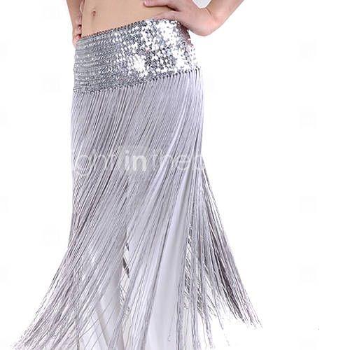 Ropa de poliéster con borla / cinturón de lentejuelas danza del vientre para las damas más colores $14.99