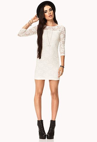 Floral Lace Bodycon Dress | FOREVER 21 - 2076692278