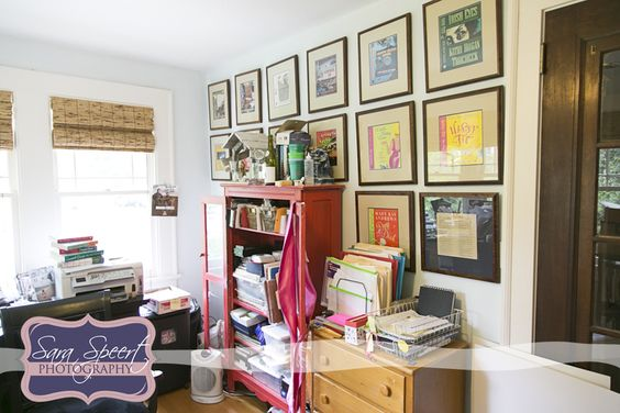 Oh lawd--now the world can see what my messy office looks like! But Sara Speert made it look pretty cool.