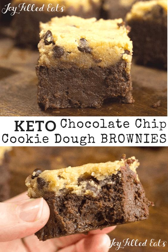 Chocolate Chip Cookie Dough Brownies Low Carb Grain Gluten