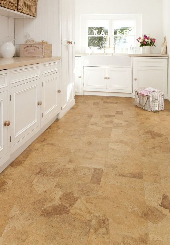 Can you believe it- this wood floor is actually made of cork - bodenbelag küche vinyl