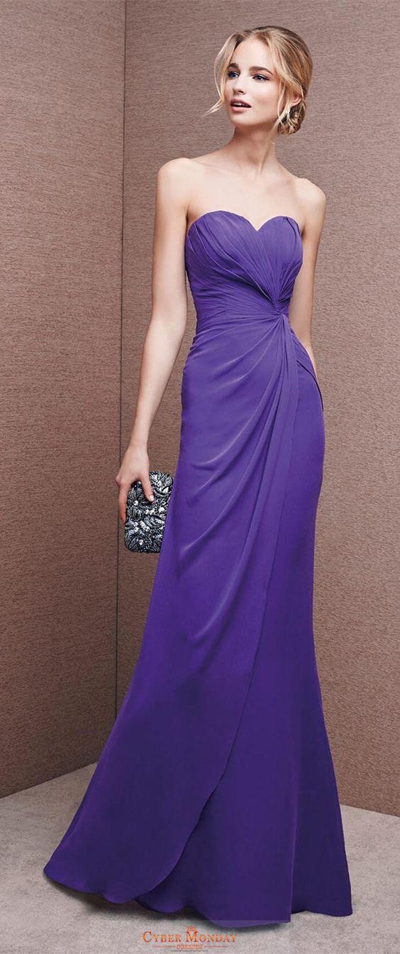 weetheart Ruffled Bodice Floor Length Sheath Chiffon Evening Dresses Item Code: #CMDPESLK5AQ