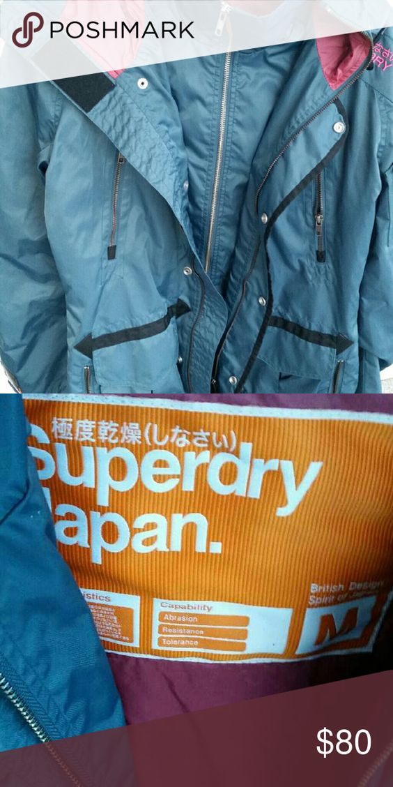 SuperDry Rain Jacket SuperDry rain jacket, brand new worn once, no tags. Make an offer! Superdry Jackets & Coats