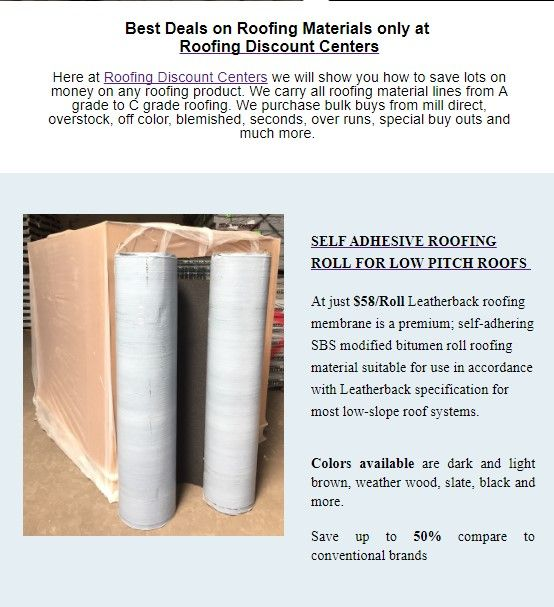 Save Big On This Christmas Self Adhesive Roofing Roll For Low Pitch Roofs At Just 58 Roll Leatherback Roofing Membr Roofing Materials Roofing Roll Roofing