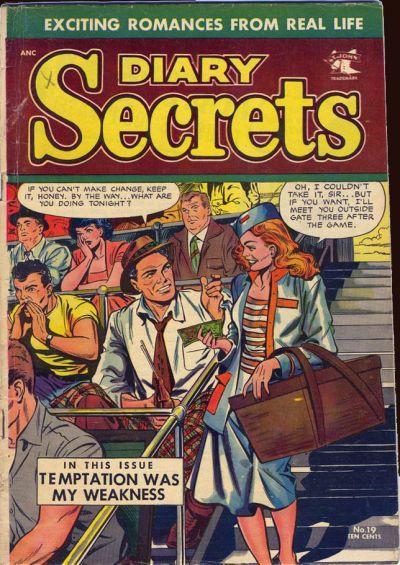 Picking up strange men at ball games. Yeah, I'd keep that secret, too.