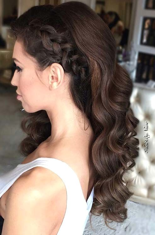 Long Hairstyles For Prom Long Curly Hairstyles For Prom Prom Hairstyles For Really Long Hair Cl Stylish Hair Prom Hairstyles For Long Hair Bridesmaid Hair