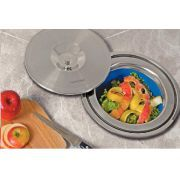Lixeira Para Granito 8 L - Tramontina - A lixeira para granito Tramontina propicia mais beleza, praticidade e higiene a cozinha.   1. Possui balde interno removível que facilita a limpeza e retirada do lixo.    2. Une praticidade, durabilidade e higiene, além de um moderno design.    3. Perfeita para cozinhas que necessitem de limpeza, aparência e requinte.    4. A lixeira Tramontina é higiênica, durável e de excelente apresentação. www.colar.com
