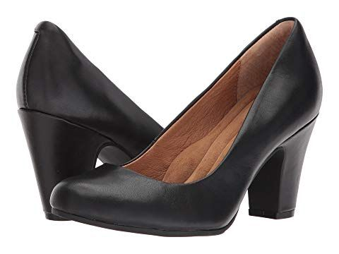 Sofft Women/'s Madina Black Leather pumps-shoes