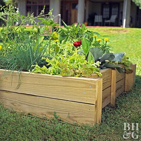 This Diy Raised Garden Bed Will Make Growing Veggies And Flowers Easier Small Vegetable Gardens Elevated Gardening Raised Garden