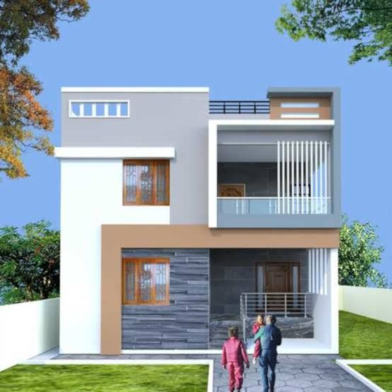 Elevations Of Independent Houses Google Search Duplex House Design Small House Elevation Design Independent House