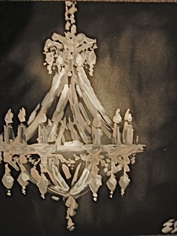 chandelier painting CREATED BY EMILY DEAN Pinterest – Painting of Chandelier