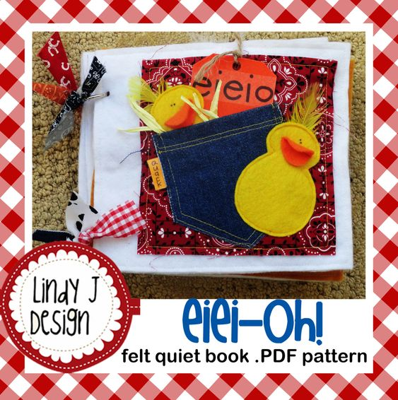 Felt Book Cover Pattern ~ Eiei oh felt quiet book pdf pattern pinterest