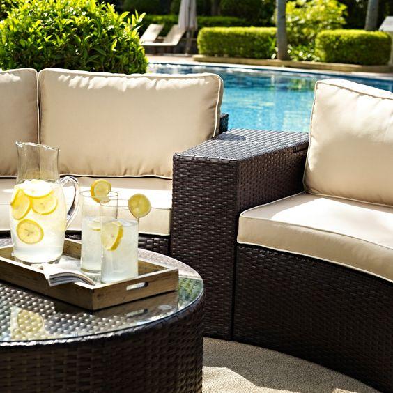 ポリエチレン アウトドア ガーデン テーブル ラタン イメージ