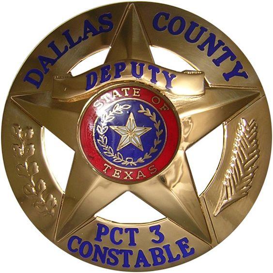 Dallas, TX County Constable Badge