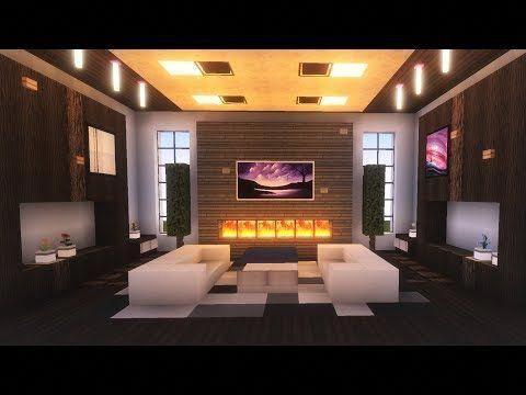 Minecraft Modern Living Room Tutorial Youtube Modernlivingroom Minecraft Mansion Minecraft Bedroom Easy Minecraft Houses